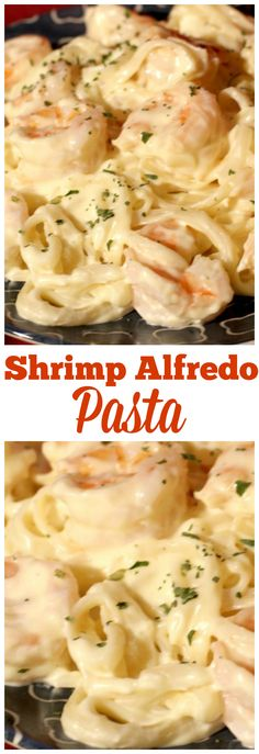 This Shrimp Alfredo is a family favorite in our house, seriously the kids ask me to make it just about every single week, they never get sick of it!