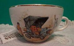 Flat 1901 Model Car Tea Cup Brooks Brothers Automobile