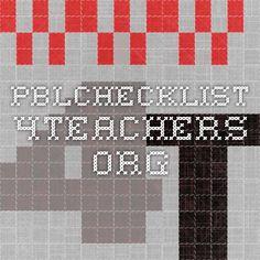 pblchecklist.4teachers.org