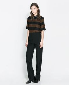 Image 1 of TROUSERS WITH HIGH ELASTIC WAIST from Zara