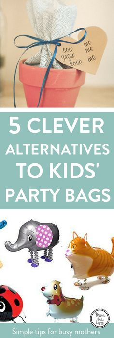 Alternative ideas for kids party bags. Instead of buying loads of party favour bag fillers, go for a great DIY gift idea that kids will love and that will save you time and brain space wondering what to put in! #KidsParty #KidsPartyideas #childrensparty #childrenspartyideas