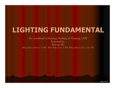 Lighting Presentation Rev2 By Muhammad Arkam Via Slideshare
