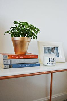 How-T0: Chic Copper and Marble Side Table