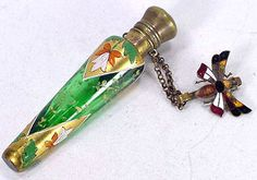 Moser glass chatelaine perfume