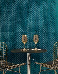 Image result for tile herringbone blue