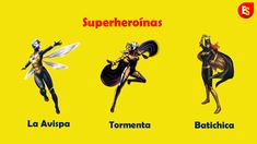 Names of female comic superheroes in Spanish (Wasp, Storm and Batgirl) Spanish 101, Study Spanish, Spanish Girls Names, Pbs Space Time, Comic Superheroes, Apostles Creed, Spanish Vocabulary, How To Pronounce, Music Channel