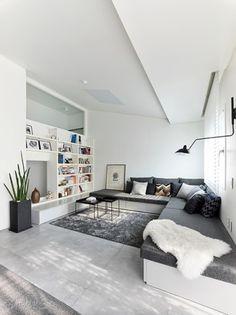 [BY 리빙센스] 흔한 TV와 소파가 있는 거실이 아니다. TV 대신 책장을 들이고 앉거나 누울 수 있는 데이... Contemporary Bathroom Designs, Modern Bathroom Decor, Bathroom Interior, Loft House, Master Bedroom Design, Dream Bathrooms, Bedroom Vintage, Guest Bedrooms, Cool Rooms