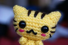 Looking for a kawaii amigurumi cat? Check out free pattern Cute Little Cat by Ice's Handmade Crochet. This adorable little one is over 3 inches (8 cm) tall.