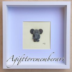 "57 Likes, 2 Comments - Neshat Ghaffari (@agifttorememberart) on Instagram: """"Little elephant"" large frame. My original pebble design. Kids and babies bedroom decoration.…"""