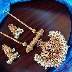 Pendant Set, Gold Pendant, Pendant Jewelry, Antique Necklace, Antique Jewelry, Gold Necklace, Indian Wedding Jewelry, Indian Jewelry, Gold Jewellery