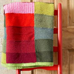 Recycle/Up-cycle Warm Quilts    Before you toss that snagged sweater or dog-chewed throw blanket, up-cycle parts into a brilliant new quilt
