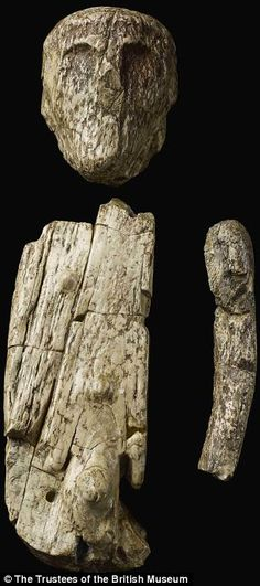 This ivory sculpture, unearthed in the isolated grave of an Ice Age man in the Czech Republic, has been dated to some 26,000 years ago. It is believed to be the world's earliest known puppet. Opposing holes at the puppet's torso and head probably allowed their articulation with a stick, while the left arm has a facet at the top matching a similar one on the torso suggesting the arm may have been able to move too.