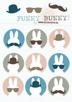 funny bunny - free printable