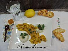 COCINANDO CON MARIBEL: Pollo al curry con arroz en thermomix.