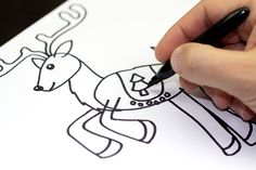 *** Look for how to draw a Creeper. *** art-for-kids-reindeer