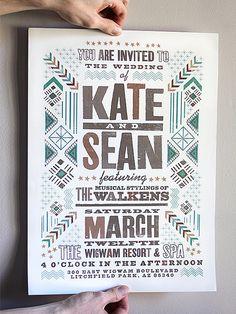 Kate & Sean's wedding poster