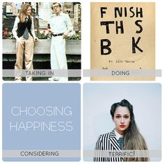 Daft About - All the things I love this week. Annie Hall, Jemima Kirke, Finish This Book and Happiness. What about you?