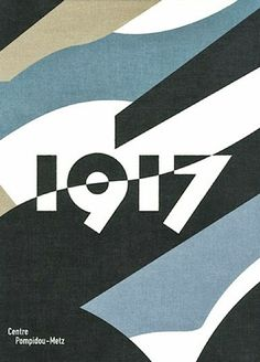 Dazzle painting (WWI camouflage): Front cover of book (French text) on WWI, by Claire Garnier and Laurent Le Bon, titled 1917. Centre Pompidou-Metz Editions, 2012.