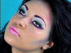 Mermaid makeup tutorial for Halloween