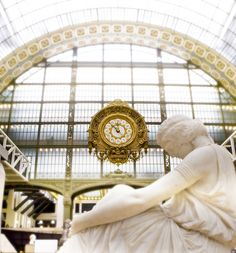 photo was taken when photography was still allowed inside the Musee d'Orsay, now forbidden.   Paris