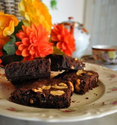 Yummy brownies with cajus! sweet...