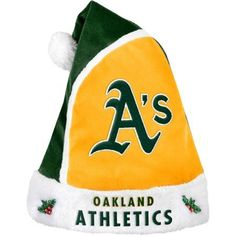 Forever Collectibles MLB 2015 Santa Hat, Oakland Athletics, Green