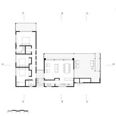 Image 48 of 48 from gallery of Sol House / Lorena Troncoso Valencia. House Plans One Story, Modern House Plans, Small House Plans, House Floor Plans, Architecture Plan, Residential Architecture, L Shaped House Plans, Architectural Floor Plans, Casas Containers