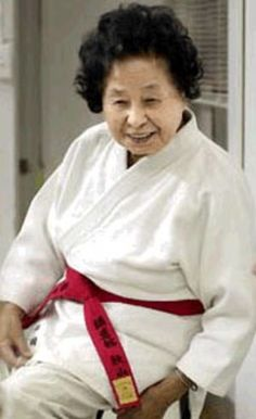 """""""Sensei Keiko Fukuda has become the first woman to achieve a tenth-degree black belt in judo - at the age of 98."""""""