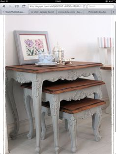 Awesome DIY Shabby Chic Furniture Makeover Ideas – Crafts and DIY Ideas - New ideas Recycled Furniture, Refurbished Furniture, Paint Furniture, Shabby Chic Furniture, Furniture Projects, Furniture Makeover, Vintage Furniture, Living Room Furniture, Rustic Furniture