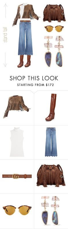 """stand TALL > Trending Knee High Boots"" by simply-one ❤ liked on Polyvore featuring BCBGMAXAZRIA, Stuart Weitzman, Diane Von Furstenberg, RED Valentino, Gucci, Ray-Ban, Melissa Joy Manning and contemporary"