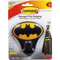 Command Batman Hook, 1 Large Hook, 2 Strips, 17103 - Walmart.com