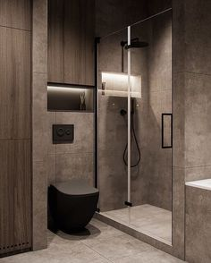 Dulux Colour of the Year 2021: Brave Ground — LIV for Interiors Washroom Design, Toilet Design, Bathroom Design Luxury, Bathroom Layout, Modern Bathroom Design, Modern House Design, Small Bathroom, Dark Bathrooms, Flat Design