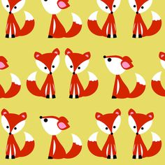 foxyellow fabric by natitys on Spoonflower - custom fabric