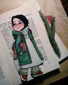 Cute Love Pictures, Boy Pictures, Pictures To Draw, Anime Drawings Sketches, Easy Drawings, We Heart It Wallpaper, Hijab Drawing, Islamic Cartoon, Anime Muslim
