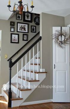 50 shades of gray paint updating an entry with a fresh coat of paint, foyer, paint colors, painting, stairs