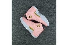 "Air Jordan 12 Gs ""pink Lemonade"" Pink/White-Gold Source by girls shoes Cute Jordans, Jordans Girls, Pink Jordans, Cheap Jordans, Womens Jordans, Jordans 2018, Jordans For Sale, Sneakers Mode, Sneakers Fashion"