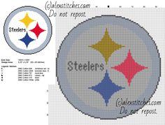 Pittsburg Steelers logo NFL National Football League team free cross stitch pattern
