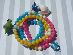 Kids' Summer Party Beaded Stretchy Charm by urbaneprincess on Etsy, $10.00
