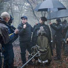 Nuova immagine del dietro le quinte di Outlander con Caitriona Balfe nei panni di Claire Randall