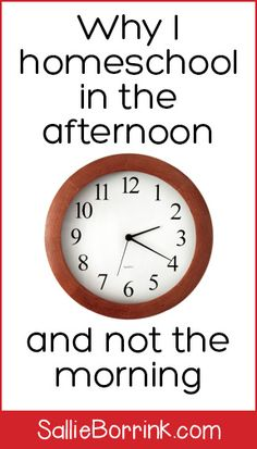 Have you ever thought that maybe your day would be better if you started your homeschool later in the day?