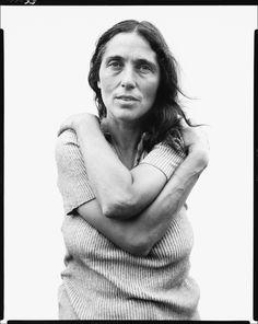 June Leaf, sculptor, Mabou Mines, Nova Scotia, July 17, 1975