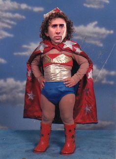 Not a Photoshop: Nic Cage as a toddler