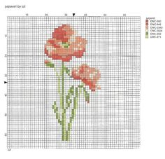 luli Stitch 2, Crafty Craft, Le Point, Cross Stitch Embroidery, Poppies, Things To Think About, Sewing, Crafts, Crossstitch