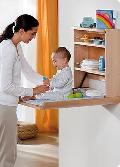 Baby Furniture From Bybo Space Saving Wall Mounted Baby