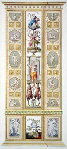 Raphael pilaster 3) from the Raphael Loggia at the Vatican, from 'Delle Loggie di Rafaele nel Vaticano', engraved - Ludovicus Tesio Taurinensis _BM
