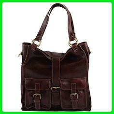 Tuscany Leather Melissa - Lady leather bag Brown Leather shoulder bags -  Top handle bags ( b3f6b66572b
