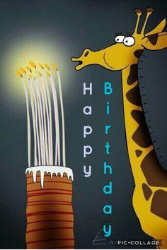 , Printable Colouring Birthday Cards– Modern❤️ HAPPY B~day! Giraffe Happy Birthday, Happy Birthday Kind, Snoopy Birthday, Happy Birthday Wishes Cards, Happy Birthday Pictures, Happy Birthday Quotes, Birthday Cards, Happy Birthday Wallpaper, Birthdays