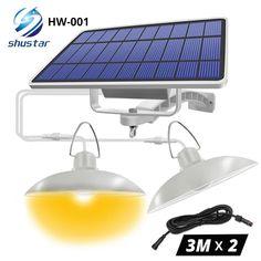 IP65 Waterproof Double Head Solar Pendant Light