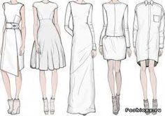 Картинки по запросу технический рисунок платья