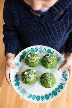 Babeczki Zieloni Marsjanie- na Halloween - Kuchnia Agaty - najsmaczniejszy blog kulinarny!